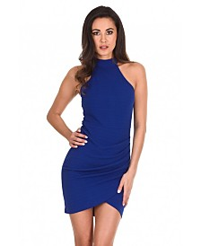 AX Paris Choker Neck Ruched Detail Bodycon Dress