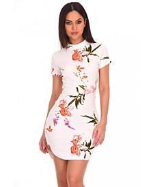 AX Paris Floral High Neck Dress