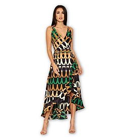 AX Paris Print Midi Tie Dress