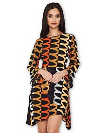 AX Paris Aztec Printed Frill Dress