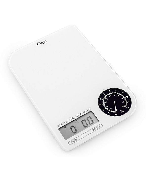 Ozeri Rev Digital Kitchen Scale with Electro-Mechanical Weight Dial