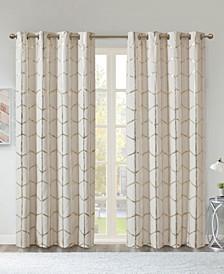 "Raina Metallic Print 50"" x 84"" Total Blackout Curtain Panel"