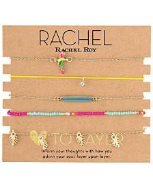 RACHEL Rachel Roy Gold-Tone 5-Pc. Set Bead & Charm Bracelets