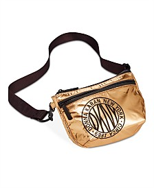DKNY Metallic-Foil Logo Belt Bag