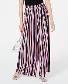Bar III Printed Wide-Leg Pants, Created for Macy's