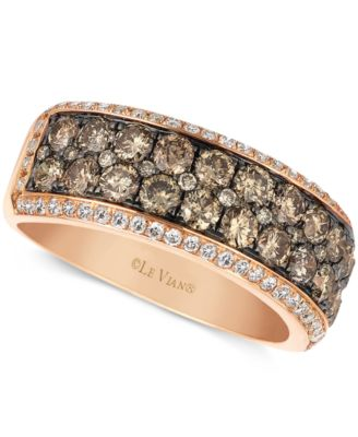 Fancy Chocolate Brown Diamond Wedding Band In White Gold | Vidar ...