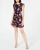 8832e045caf74 Bar III Printed Crochet-Trim Dress, Created for Macy's