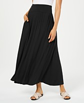 ee448c2f30 Style & Co Pull-On Pocket Maxi Skirt, Created for Macy's. 2 colors