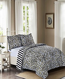 Leopard Reversible 3-Pc. Mini Comforter Sets