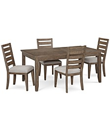 Mesa Dining 5-Pc. Set (Expandable Table & 4 Side Chairs), Created for Macy's