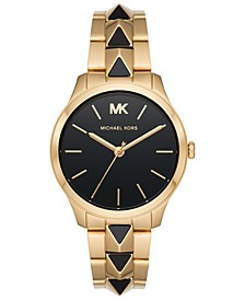 Womens Runway Mercer Gold-Tone Stainless Steel Bracelet Watch 38mm MK6669