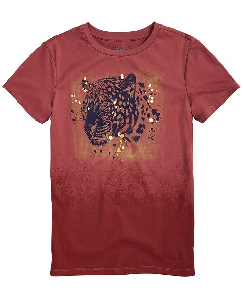 Epic Threads Big Boys Tiger Head T-Shirt, Created for Macy's