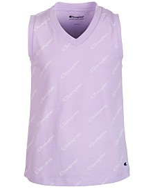 Champion Big Girls Logo-Print Tank Top