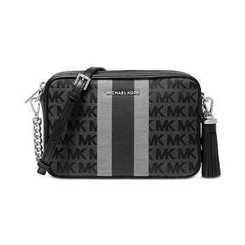 Michael Kors Signature Striped Medium Camera Bag only $66.75