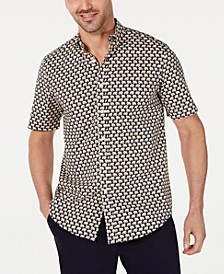 Men's Stretch Elephant-Print Shirt, Created for Macy's
