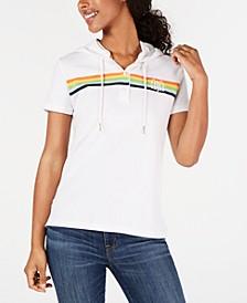 Short-Sleeve Monogrammed Hoodie, Created for Macy's
