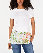 e82ff42ff6 Tommy Hilfiger Twist-Hem Layered-Look Top, Created for Macy's
