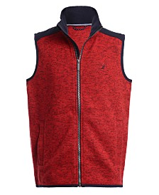 Nautica Big Boys Minos Full-Zip Sweater Fleece Vest