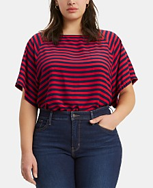 Levi's® Trendy Plus Size Miranda Striped Top