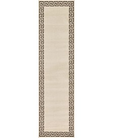 "Bridgeport Home Anzu Anz2 Beige/Brown 2' 7"" x 10' Runner Area Rug"