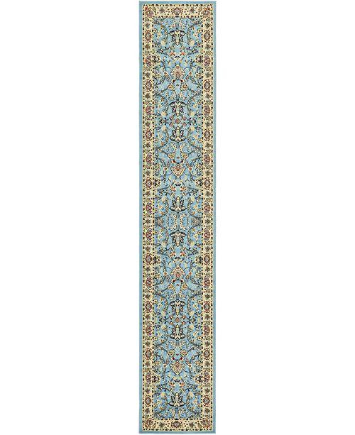 """Bridgeport Home Arnav Arn1 Light Blue 3' x 16' 5"""" Runner Area Rug"""