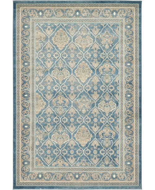 Bridgeport Home Bellmere Bel4 Light Blue 6' x 9' Area Rug