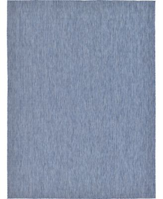 Pashio Pas6 Navy Blue 9' x 12' Area Rug