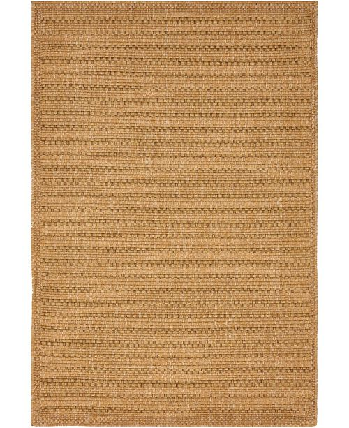 Bridgeport Home Pashio Pas6 Light Brown 4' x 6' Area Rug
