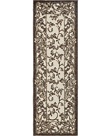 Bridgeport Home Pashio Pas4 Beige/Black 2' x 6' Runner Area Rug