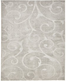 Malloway Shag Mal1 Light Gray 8' x 10' Area Rug