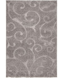 Bridgeport Home Malloway Shag Mal1 Dark Gray 4' x 6' Area Rug