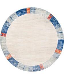 Haven Hav4 Blue 8' x 8' Round Area Rug