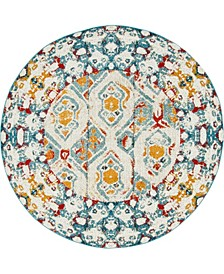 Mishti Mis5 Multi 8' x 8' Round Area Rug