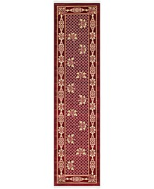 "Sahil Sah5 Red 2' 7"" x 10' Runner Area Rug"