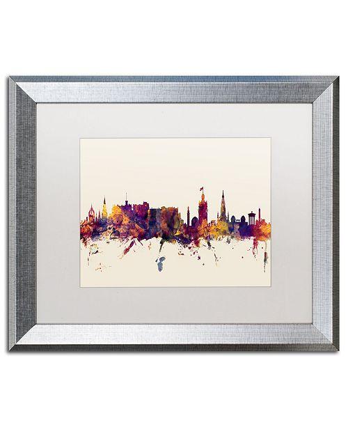 """Trademark Global Michael Tompsett 'Edinburgh Scotland Skyline' Matted Framed Art - 16"""" x 20"""""""