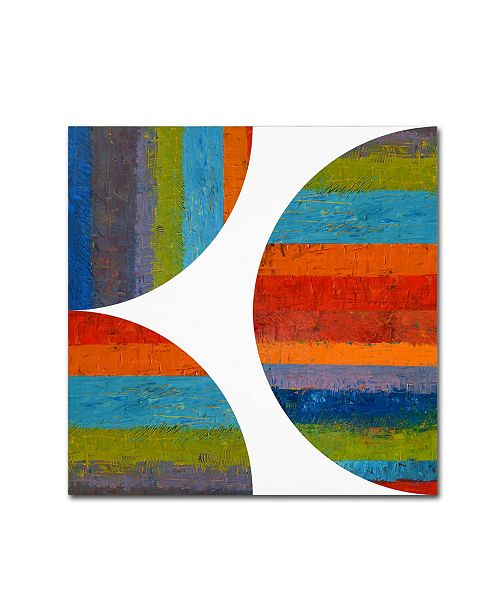 """Trademark Global Michelle Calkins 'Half Circle and Quarter Rounds 1.0' Canvas Art - 18"""" x 18"""""""