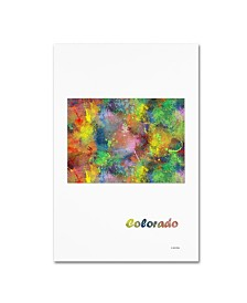 "Marlene Watson 'Colorado State Map-1' Canvas Art - 16"" x 24"""