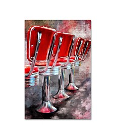 "Lois Bryan 'Counter Seating Available' Canvas Art - 16"" x 24"""