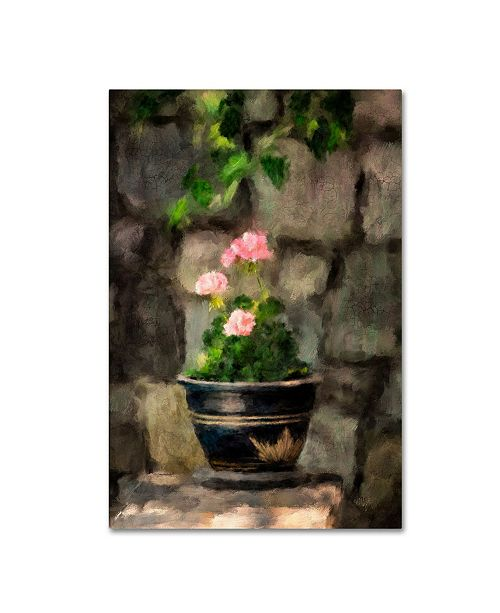 "Trademark Global Lois Bryan 'Sun Kissed Pink Geraniums' Canvas Art - 12"" x 19"""