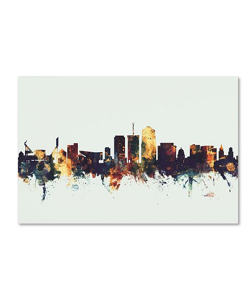 "Trademark Global Michael Tompsett 'Tucson Arizona Skyline II' Canvas Art - 16"" x 24"""