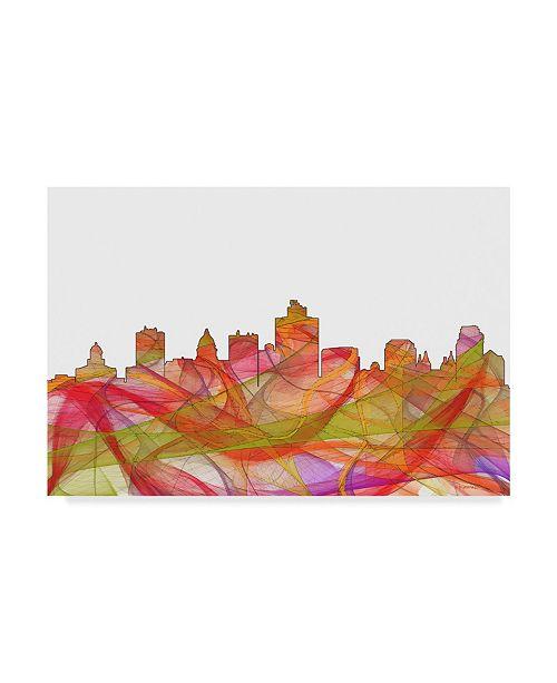 "Trademark Global Marlene Watson 'Salt Lake City Utah Skyline Swirl' Canvas Art - 16"" x 24"""