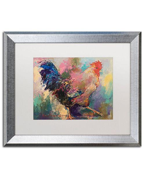 """Trademark Global Richard Wallich 'Art Rooster 2' Matted Framed Art - 16"""" x 20"""""""