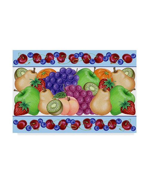 "Trademark Global Kimura Designs 'Fruit Frame' Canvas Art - 16"" x 24"""
