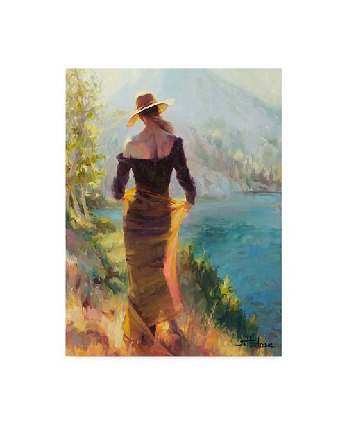 "Trademark Global Steve Henderson 'Lady Of The Lake' Canvas Art - 18"" x 24"""