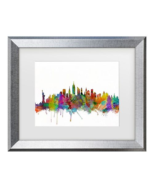 "Trademark Global Michael Tompsett 'New York' Matted Framed Art - 16"" x 20"""