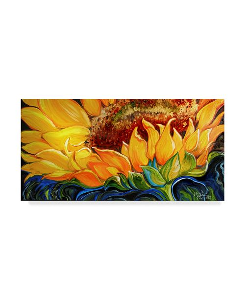 "Trademark Global Marcia Baldwin 'Sunflower Rise'N Shine' Canvas Art - 24"" x 12"""