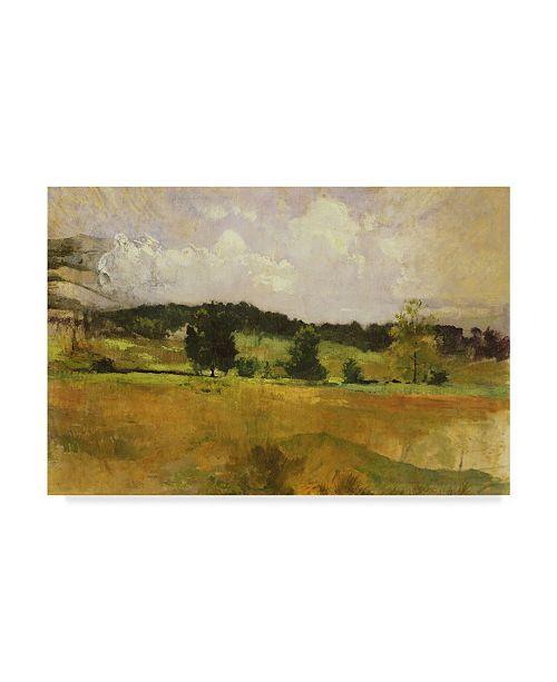 "Trademark Global John Henry Twachtman 'Landscape Study' Canvas Art - 19"" x 12"""