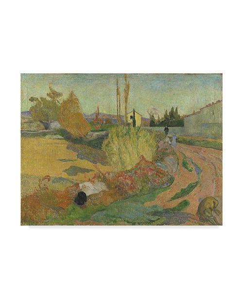 "Trademark Global Paul Gauguin 'Landscape At Arles' Canvas Art - 19"" x 14"""