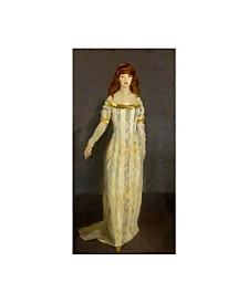 "Robert Cozad Henri 'The Masquerade Dress' Canvas Art - 19"" x 10"""