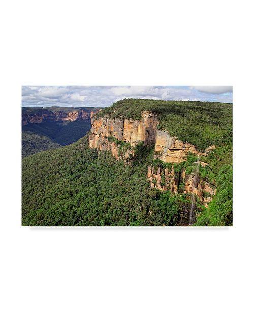 "Trademark Global Incredi 'Cliff Landscape' Canvas Art - 19"" x 12"""
